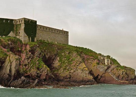 19th century Thorn Island fortress near Pembroke, Pembrokeshire