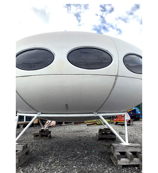 1960s Matti Suurinen Futuro House in Christchurch, New Zealand