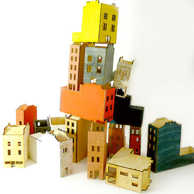 Make Do & Draw - Tiny Townhouses at Fab