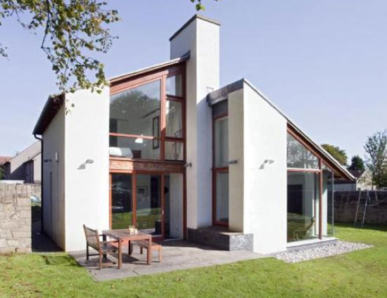 On the market: Three-bedroom contemporary modernist property in Slamanna, near Falkirk, central Scotland