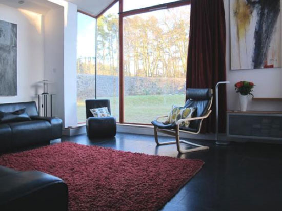 Three-bedroom contemporary modernist property in Slamanna, near Falkirk, central Scotland