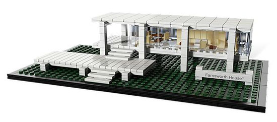 Your dream house in Lego: Ludwig Mies van der Rohe-designed Farnsworth House in Plano, Illinois