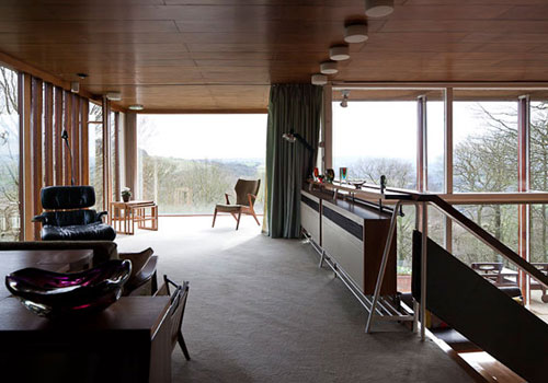 Peter Womersley-designed Farnley Hey house in Farnley Tyas, near Huddersfield, West Yorkshire