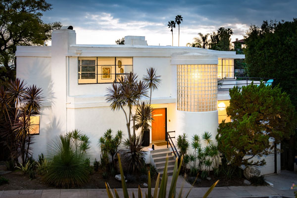 1930s William Kesling art deco ULM House in Los Angeles, California, USA