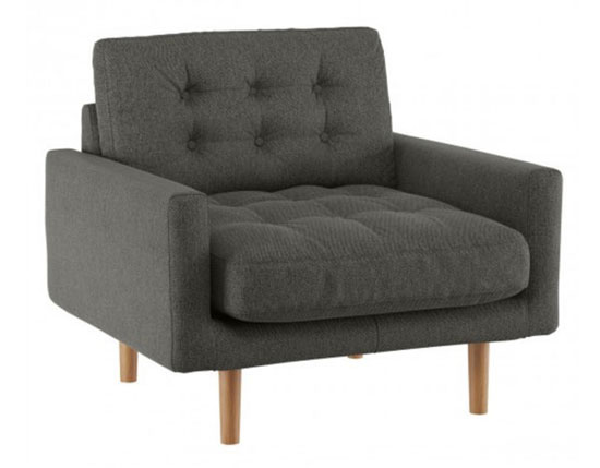 Fenner midcentury sofas and armchair at Habitat