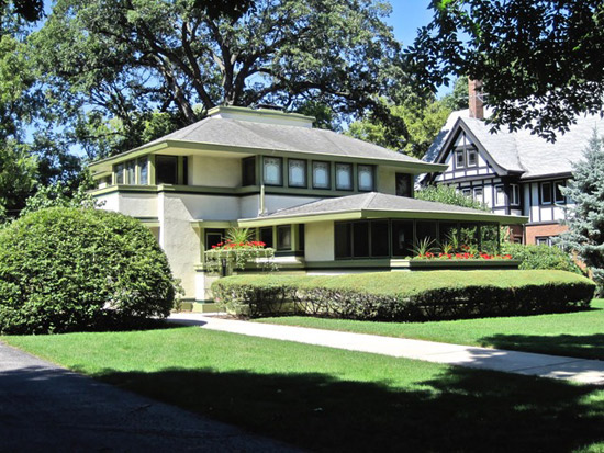 On the market: Frank Lloyd Wright-designed Ingalls House in River Forest, Illinois, USA
