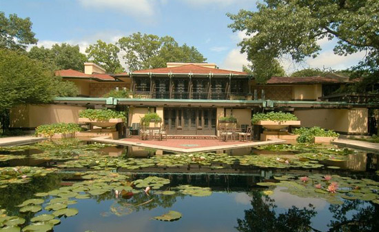 Frank Lloyd Wright-designed Avery Coonley House in Riverside, Illinois, USA