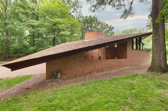 Frank Lloyd Wright-designed Paul Olfelt house in Saint Louis Park, Minnesota, USA