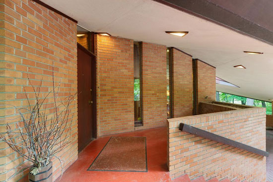 Frank Lloyd Wright-designed Paul Olfelt house in Saint Louis Park, Minnesota, USA
