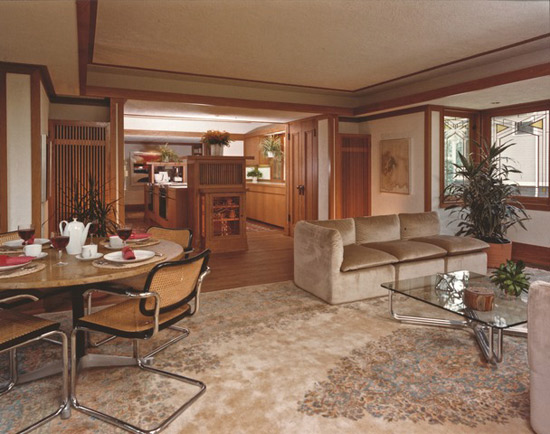 Frank Lloyd Wright-designed Ingalls House in River Forest, Illinois, USA