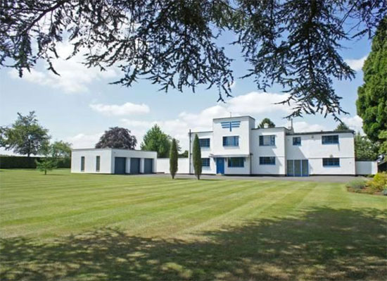 Back on the market: Charles Riddy-designed Foxfield art deco property in Quinton, Northamptonshire