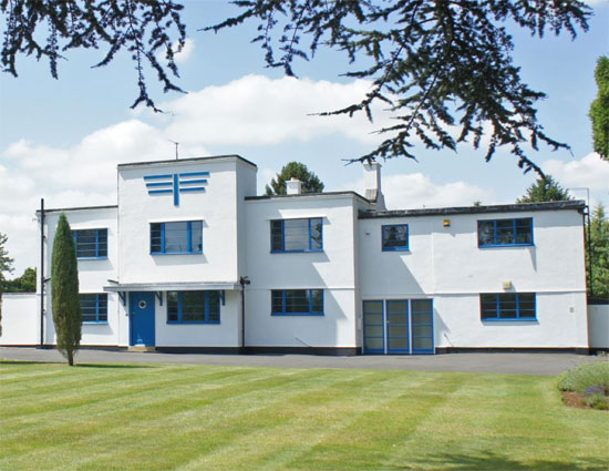 Charles Riddy-designed Foxfield art deco property in Quinton, Northamptonshire