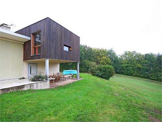 1960s Jacques Rabinel-designed modernist villa in Aulnay-sur-Mauldre, near Paris, France