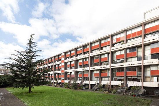 1950s apartment in Chamberlain, Powell and Bon's Golden Lane Estate, London EC1Y