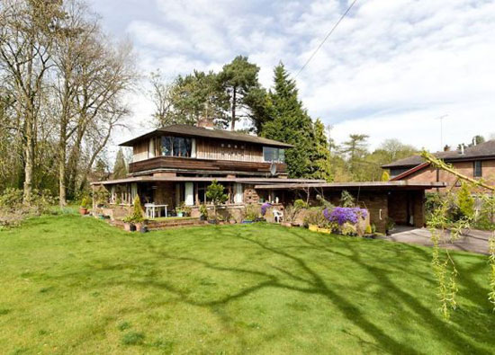 On the market: Grade II-listed three-bedroom Frank Lloyd Wright-style property in Solihull, West Midlands
