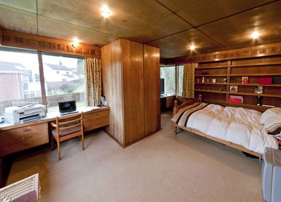 Grade II-listed three-bedroom Frank Lloyd Wright-style property in Solihull, West Midlands