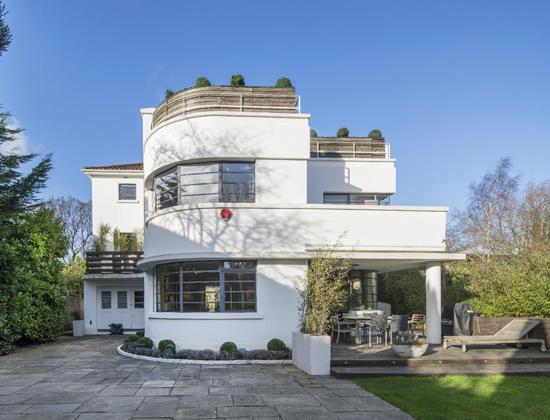1930s Ernst L Freud-designed art deco property in Hampstead Garden Suburb, London N2