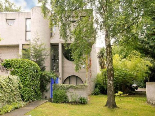 On the market: 1960s Laurie Abbott-designed three-bedroomed house in Frimley, Surrey