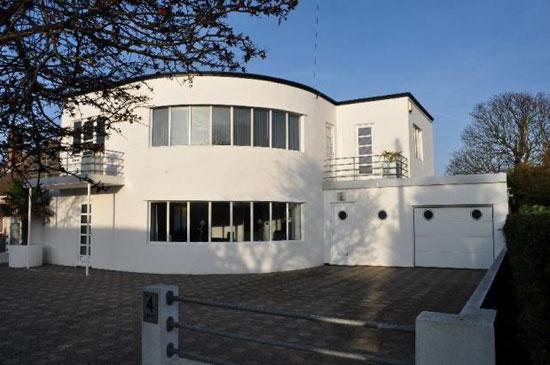 On the market: 1930s Oliver Hill-designed five bedroom art deco house in Frinton-On-Sea, Essex