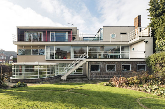 1930s Connell, Ward & Lucas-designed 66 Frognal modernist house in London NW3
