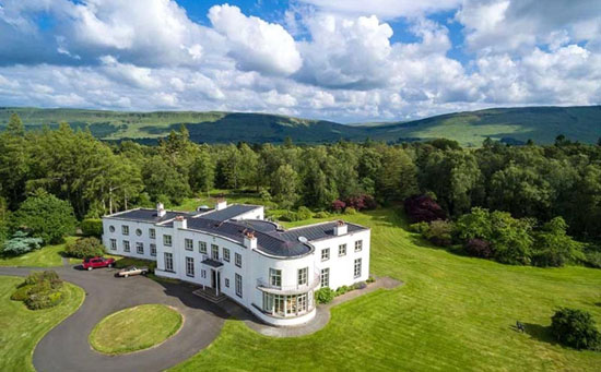 On the market: Sir Basil Spence-designed Gribloch art deco property in Kippen, Stirling, Scotland