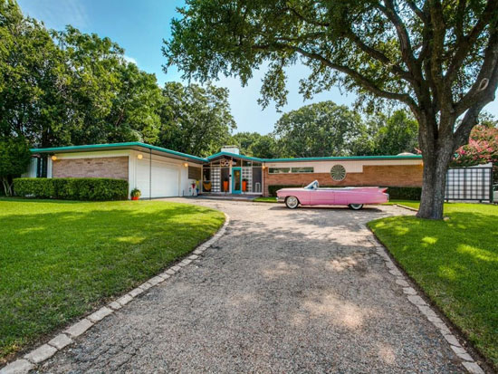 On the market: 1950s Gordon Nichols-designed midcentury modern property in Dallas, Texas, USA