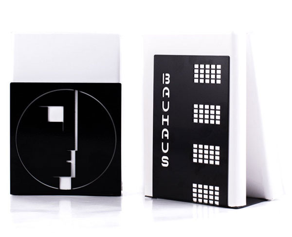 10. Bauhaus-themed bookends by Design Atelier Article