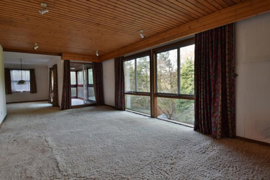1970s modernist property in Bearsden, East Dunbartonshire, Scotland