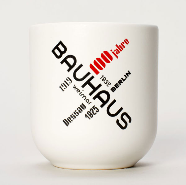 29. Bauhaus 100 mug by Becher