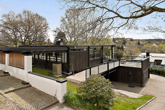 1970s Gunnar Serneblad modern house in Gothenburg, Sweden