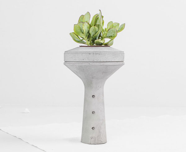4. Concrete water tower planters