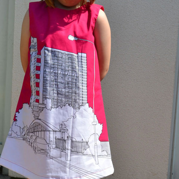 42. Trellick Tower Clothkits dress for kids
