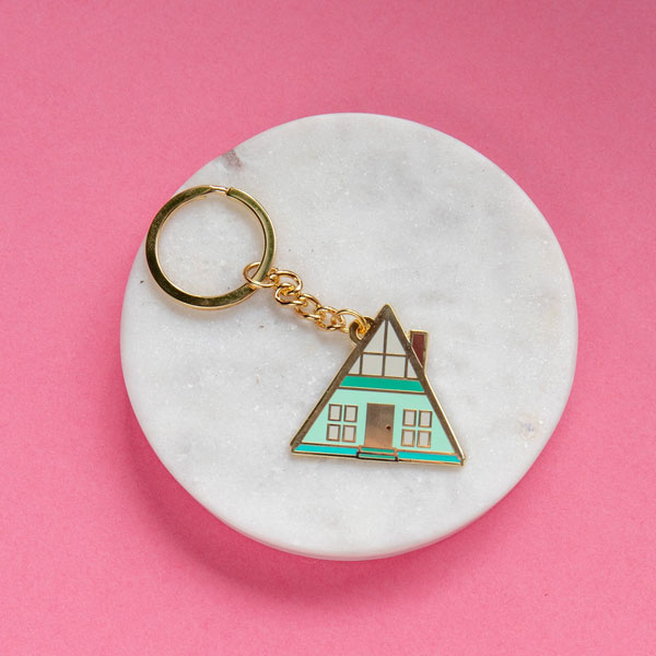 44. A-frame keychain by Finest Imaginary
