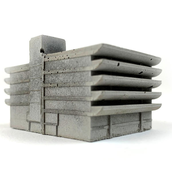 49. Mini cast concrete models of iconic brutalist architecture by Space Play