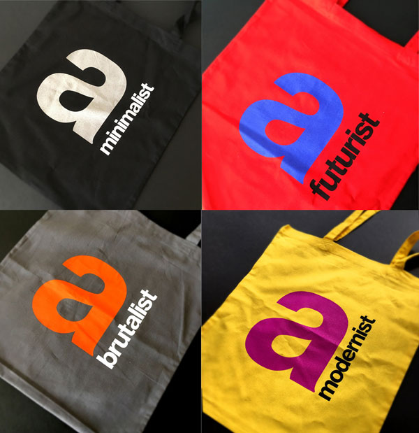 5. Modernist tote bags at The Modernist