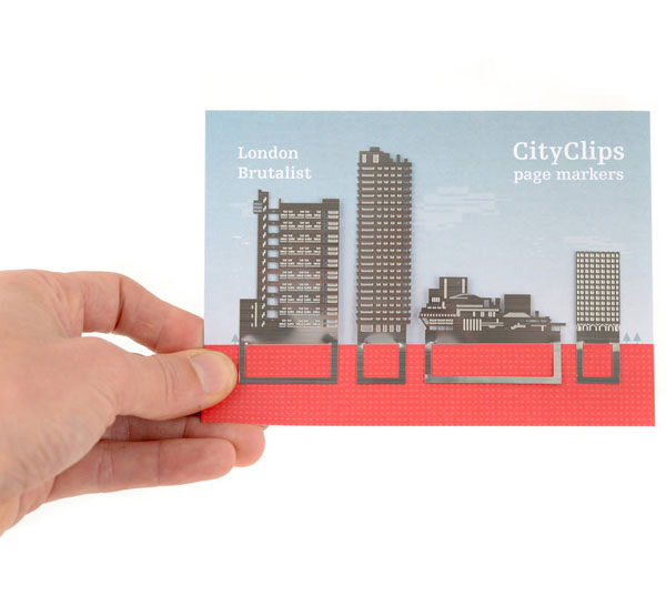 9. London brutalist bookmark set by Another Studio