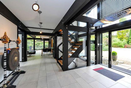 Six-bedroom modernist Huf Haus in Farnham, Surrey