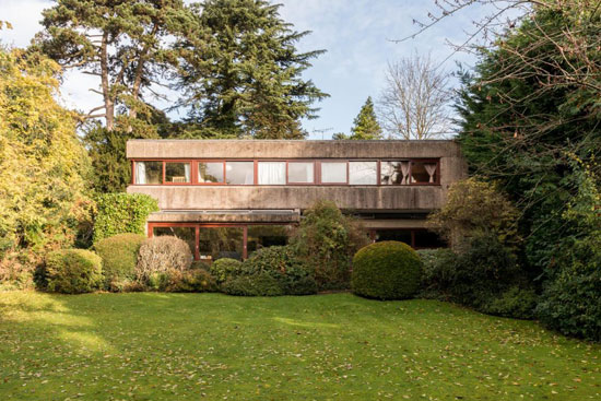 1960s brutalism: Gerd Kaufmann-designed brutalist property for sale in Stanmore, Middlesex