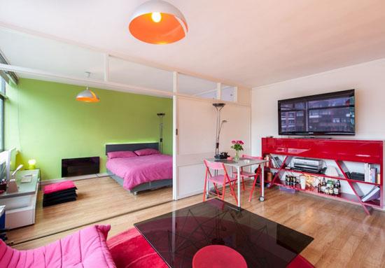 One bedroom apartment in the 1950s modernist Golden Lane Estate, London EC1