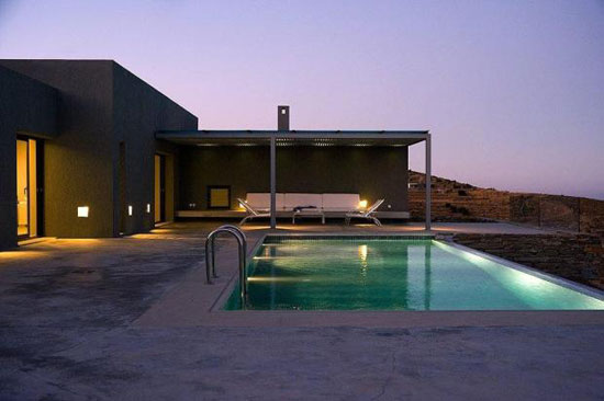 On the market: Five bedroom modernist-style villa in Otzias on the Cyclades Islands in Greece