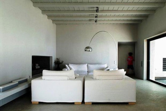Five bedroom modernist-style villa in Otzias on the Cyclades Islands in Greece