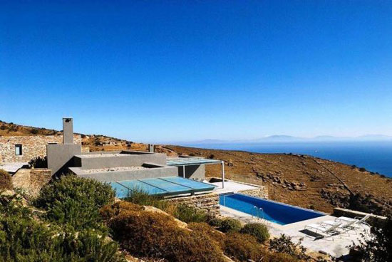 Five bedroom modernist-style villa in Otzias on the Cyclades Islands in Greece