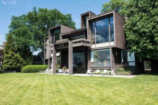On the market: 1970s Paul Rudolph-designed Brutalist property in Grosse Pointe Farms, Michigan, USA