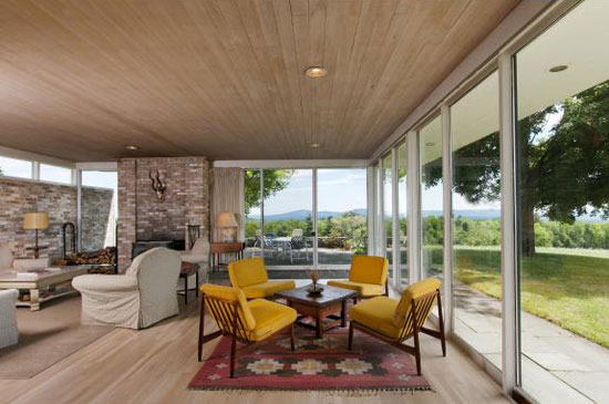 1950s Alexander James Jr-designed modernist property in Dublin, New Hampshire, USA