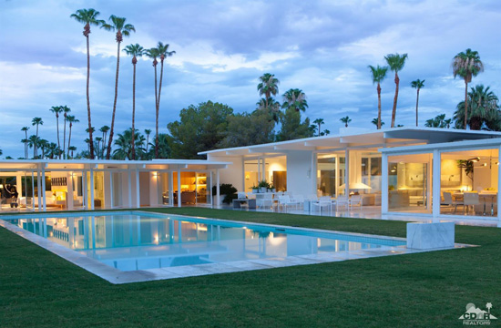 Celebrity modernism 1950s john porter clark designed for Property in palm springs