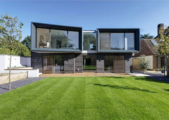 On the market hilltop house contemporary modernist for Modern house uk