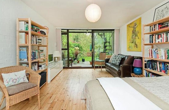 1950s Bill Howell and Stan Amis-designed modernist townhouse in South Hill Park, Hampstead, London NW3
