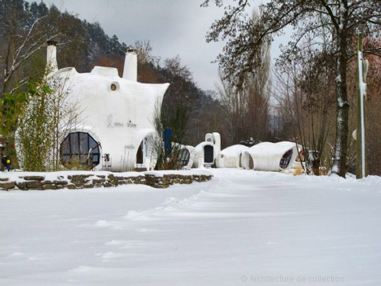 1960s Pascal Hausermann-designed space age bubble houses in Raon-l'Etape north eastern France