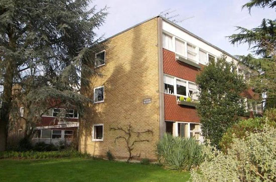 Two-bedroom apartment in the 1950s Eric Lyons-designed Span estate at Parkleys, Ham, Richmond, Surrey