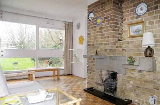 Two-bedroom modernist apartment in the grade II-listed Langham House Close, Ham, Richmond, Surrey